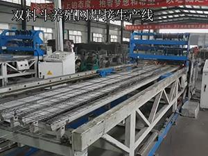 双料斗养殖网焊接生产线工作视频