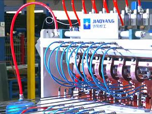 蒸压加气混凝土板材网片生产线调试视频